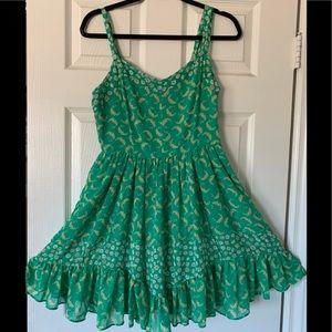 LC Lauren Conrad Sz8 Green Floral Mini Dress